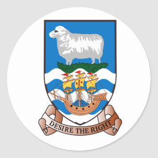 Falkland Islands (Malvinas) FK Round Sticker