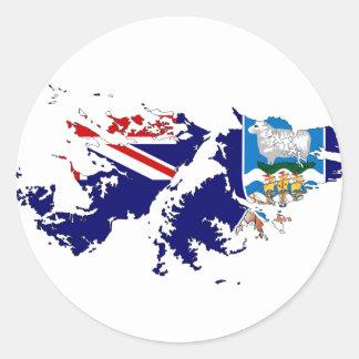 Falkland Islands (Malvinas) Flag Map FK Classic Round Sticker