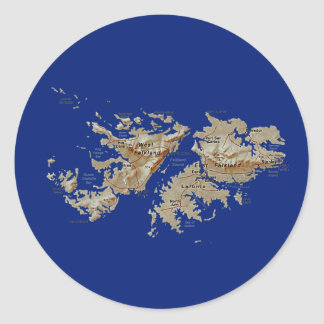 Falkland Islands Map Sticker