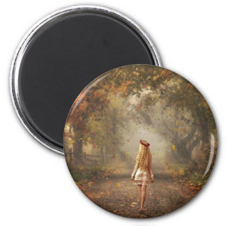 Fall 2 Inch Round Magnet