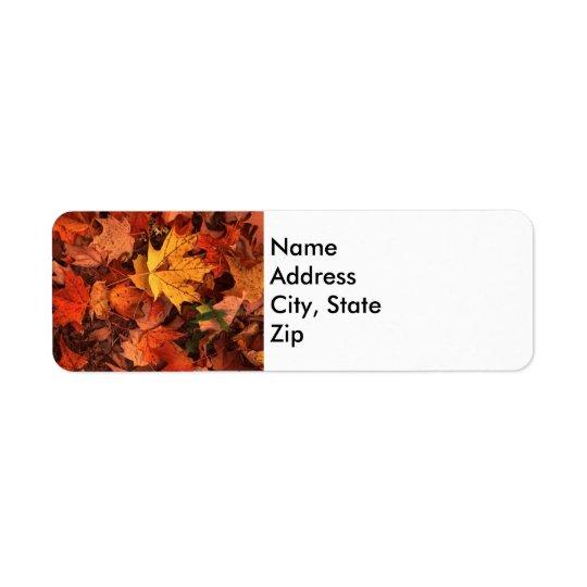 fall address return label