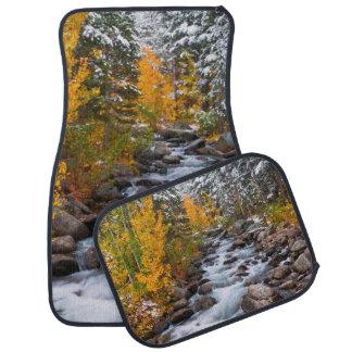 Fall along Bishop creek, California Car Mat
