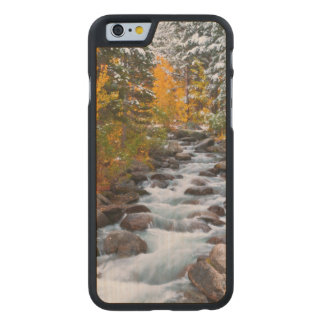 Fall along Bishop creek, California Carved Maple iPhone 6 Case