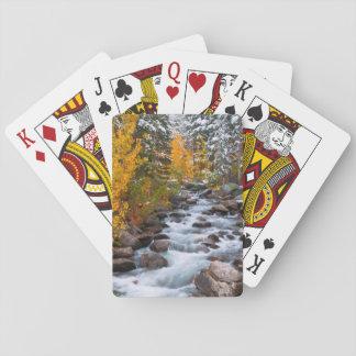 Fall along Bishop creek, California Poker Deck
