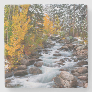 Fall along Bishop creek, California Stone Coaster