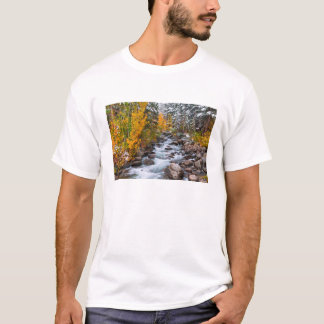 Fall along Bishop creek, California T-Shirt