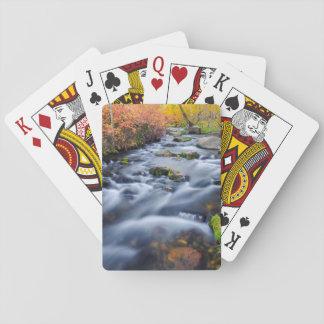 Fall along Lundy Creek, California Poker Deck