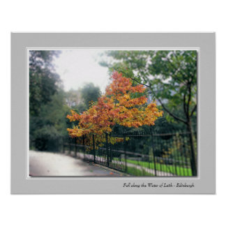 Fall along the Water of Leith - Edinburgh Poster