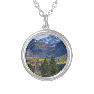 Fall At Cascade Peak And Sundance From Alpine Loop Silver Plated Necklace