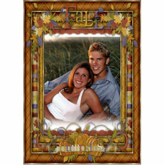 Fall Autumn Acrylic PHOTO Frame for office or home Standing Photo Sculpture