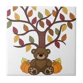 Fall Autumn Bear Design Tile