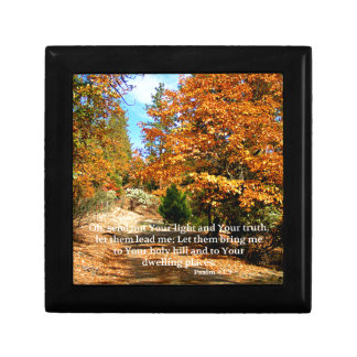 Fall Autumn Christian Scripture Bible Verse Jewelry Box