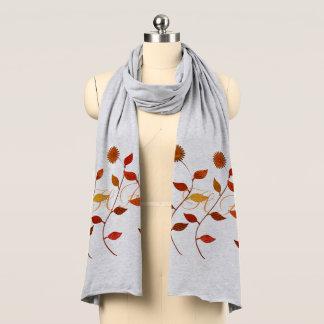 Fall Autumn Flowers Fashion Add Initials Scarf