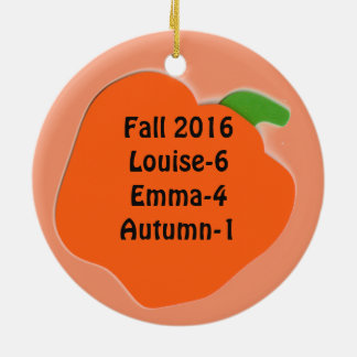 Fall Autumn Halloween Pumpkin Personalize Ornament