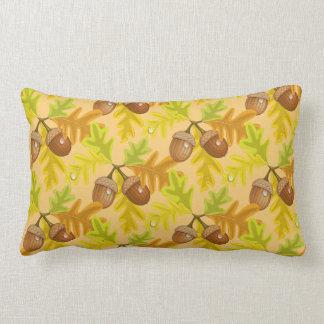 Fall Autumn Leaves Acorn Throw Pillow