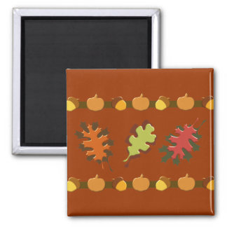Fall Autumn Leaves Acorns Design Magnet