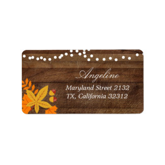 Fall Autumn leaves Address Label