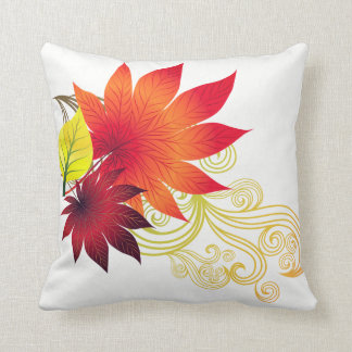 Fall Autumn Leaves Throw Pillow