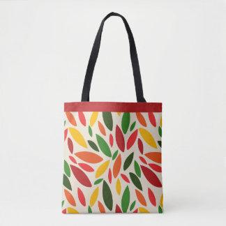 Fall autumn leaves tumbling tote bag