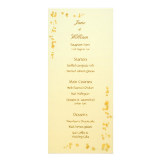 Fall / Autumn Leaves Wedding Menu