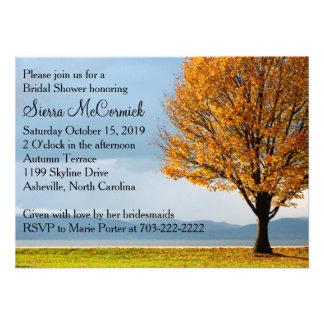 Fall Autumn Maple Tree Bridal Shower Invites
