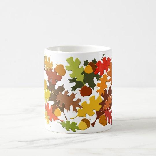 Fall Autumn Season Leaves Oak Design Coffee Mug