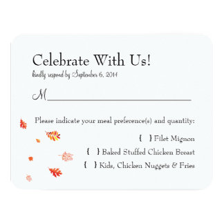 Fall / Autumn Tree Invitation Reply Card