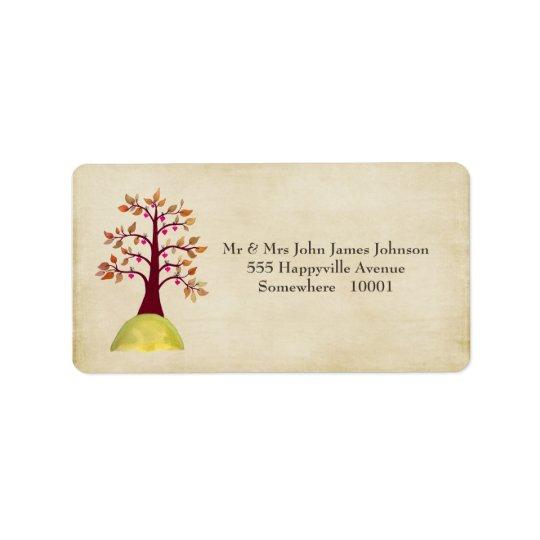 Fall Autumn Tree Wedding Return Address Labels