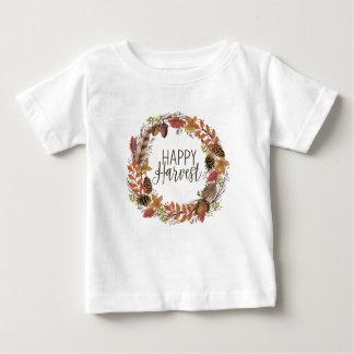 fall autumn watercolor wreath baby T-Shirt