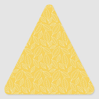 Fall Autumn Yellow Golden Leaf Leaves Pattern Triangle Sticker