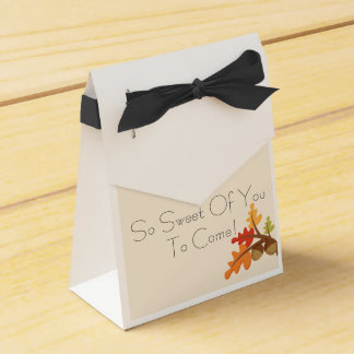 Fall Baby Favor Boxes! Favor Box