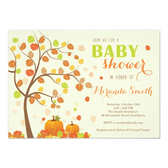 Fall Baby Shower Invitation / Fall Invitation