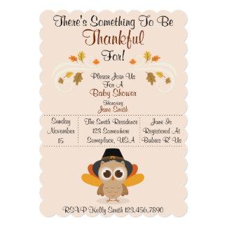 Fall Baby Shower (Thankful) Card