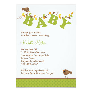 Fall Baby Vine Invitations