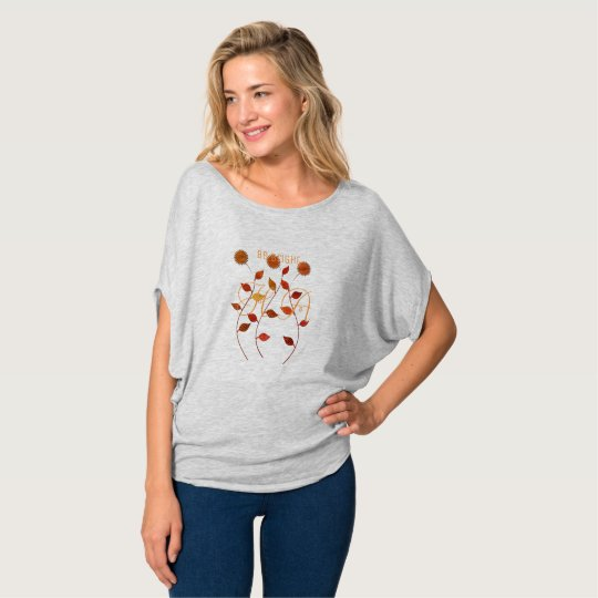 Fall  Be Bright Add Initials Floral T-shirt