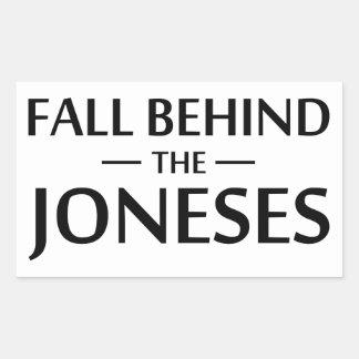 Fall Behind The Joneses Sticker