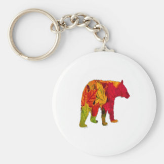 Fall Bliss Basic Round Button Keychain