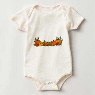 fall border baby bodysuit