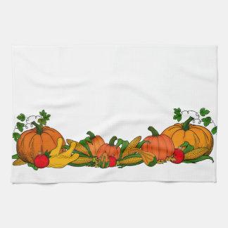 fall border kitchen towel