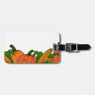 fall border luggage tag