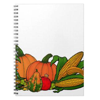 fall border notebooks