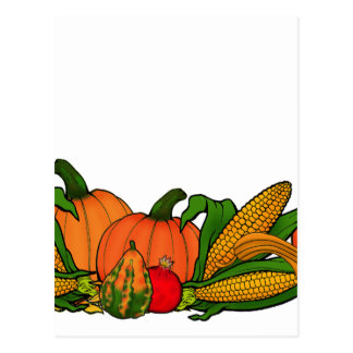 fall border postcard