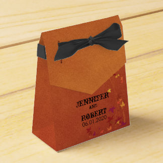 Fall Breezes Wedding Favor Box