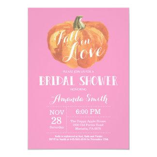 Fall Bridal Shower Invitation Card Pink