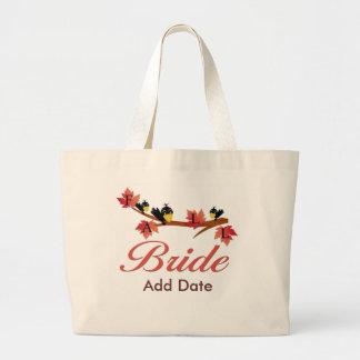Fall Bride Favors and Apparel Large Tote Bag
