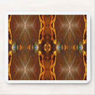 Fall Browns Earthy Oranges Masculine Pattern Mouse Pad