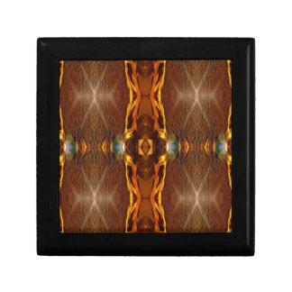 Fall Browns Earthy Oranges Masculine Pattern Trinket Box