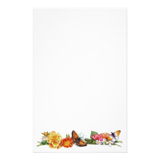 fall butterfly stationary stationery