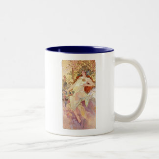 Fall by Mucha Two-Tone Coffee Mug