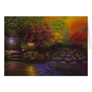 Fall Cabin Greeting Card